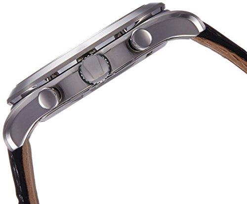 Seiko herr kronograf kvartsur med läderarmband SNAF71P1, Nero