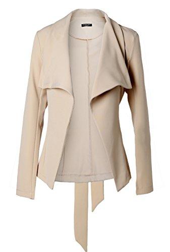 Blooming Jelly Women's Casual Work Office Long Sleeve Open Front Cardigan Blazer Jacket