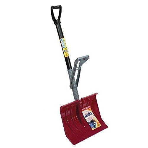 Durable 18 Power Lift Snow Shovel with Premium Lifetime Handle- 54h X 18w X 4d by Bigfoot