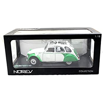 NEW 1:18 W/B NOREV COLLECTION - WHITE GREEN 1985 CITROEN 2CV DOLLY Diecast Model Car By Norev