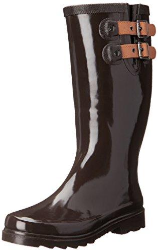 Chooka Women's Tall Rain Boot, Espresso, 7 M US