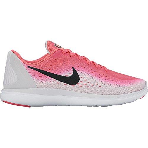 Nike Girl's Flex RN 2017 (GS) Running Shoe Racer Pink/Black/Pure Platinum/Lava Glow Size 6 M US (Girls Running Shoes Nike)