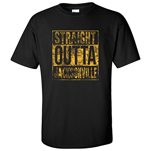 UGP Campus Apparel Straight Outta Jacksonville T-Shirt - Large - Black