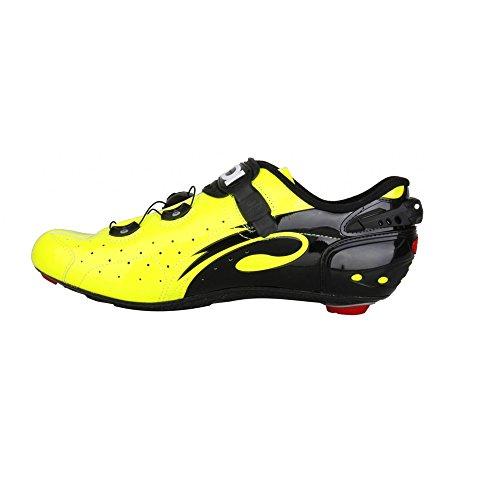Sidi Wire Carbon Vernice Chaussures De Route Jaune Fluo / Noir