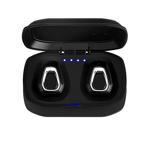 Lljin Mini True Wireless Sport Earbuds Headset Bluetooth HiFi in Ear Stereo Headphones (Silver) ()