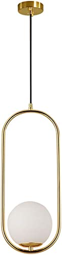 Modo Lighting Mimi Pendant Lighting with Round Glass Shade, Adjustable Cord Farmhouse Kitchen Lamp 9.8