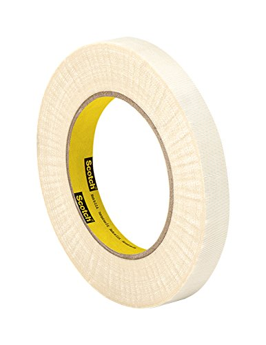 3M Glass Cloth Electrical Tape 79, 0.75″ width x 60yd length (1 roll), White