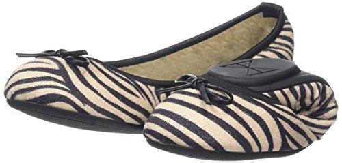 Noir Twists Butterfly Penelope Femme 031 Ballerines zebra B4B8qU