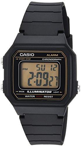 Casio Mens Casual Classics Watch - Casio Men's 'Classic' Quartz Resin Casual Watch, Color:Black (Model: W-217H-9AVCF)