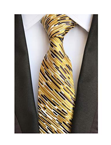 Men's Glod Brown Neckties Silk Tie For Men Suit Fitness Dating Fashion New -