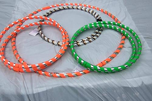 Adult Weighted 1.5 lbs. HULA HOOPS Get Your Middle Little Perfect for Hoop Dance Fitness Workouts Exercise and Off-Body Moves Select Color and Size Lrg 40 - 42, Med 38 - 39, Small 36 -37 inches round