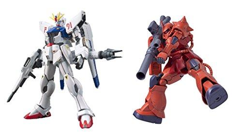 2 Bandai Gundam Model Sets - F91 EFSF Prototype Attack and HG The Origin Zaku II Mobile Suit (Japan Import)