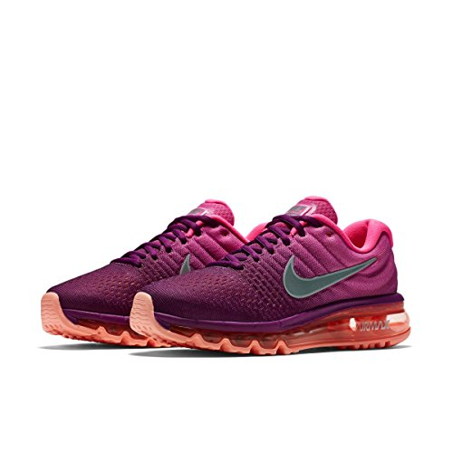 reputable site ebf2d 411af Galleon - NIKE Womens Air Max 2017 Running Shoes Bright GrapeWhitePink  Fire 849560-502 Size 8
