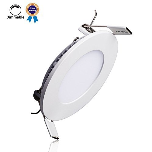 B-right 18W 8-inch Dimmable Round LED Panel Light 1400lm Ultra-thin 4000K Daylight White LED Recessed Ceiling Lights for Home Office Commercial Lighting