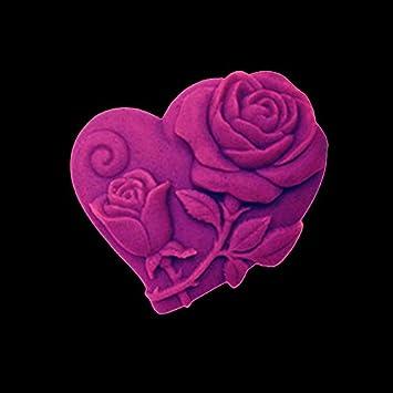1 pieza molde de silicona Candy para moldes rosa Love principal para jabones Fondant Cake Decoration