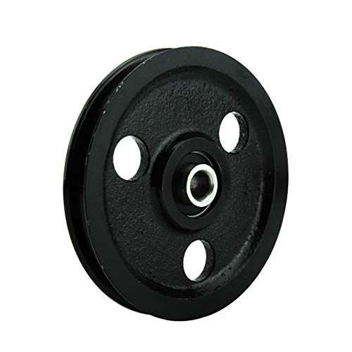 Heavy Duty Cast Iron Pulleys - Seleq Black Cast Iron Sheave for Garage Door Pulley 4