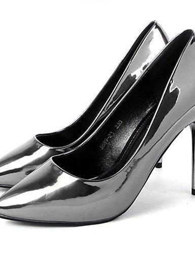 GGX  Damen-High Damen-High Damen-High Heels-Kleid   Party & Festivität-Kunstleder-Stöckelabsatz-Absätze-Silber   Grau B01KL7L6EK Sport- & Outdoorschuhe Große Klassifizierung 07e3f1