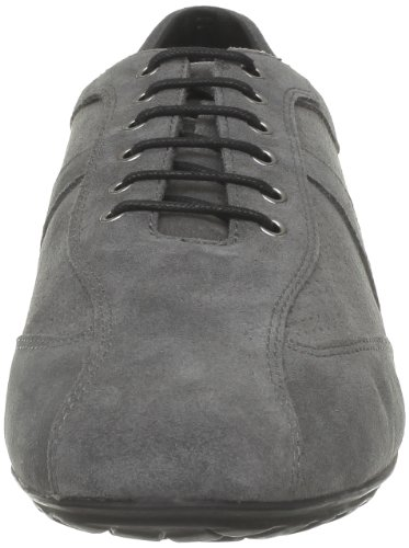 Geox - Zapatos de cordones de cuero para hombre Gris (Gris (C9002))