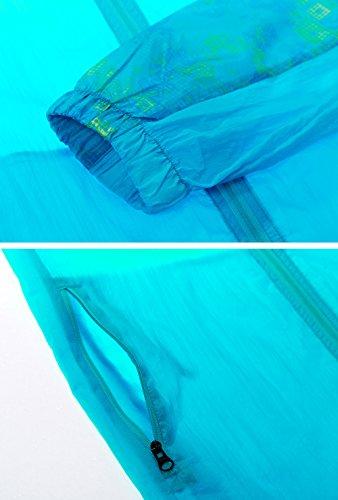 Rapido Secco Giacca Uomini Super Giacca Cappuccio Mochoose Con A Proteggiamo Blu Uv Cappotto Pelle Vento Leggero Esterno Traspirante Della AznqnFXf
