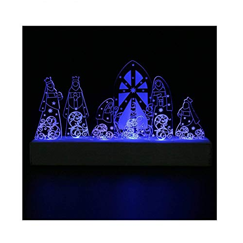 Giftgarden LED Nativity Set Christmas Decoration Holy Family for Christian Catholic Gifts -