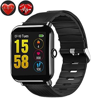 LIJJY Pulsera Actividad Smartwatch Inteligente Reloj Deportiva Hombre Mujer Impermeable Reloj Inteligente con Pulsómetro Monitor de Ritmo Cardíaco Podómetro ...