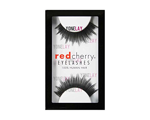 Red Cherry #74 False Eyelashes, Black (Pack of 6)