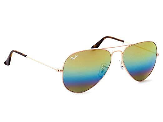 6c49ab5326383 Image Unavailable. Image not available for. Color  Ray-Ban RB3025 Aviator  Large Metal Unisex Sunglasses (Metallic Light Bronze Frame Light