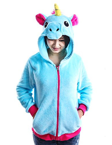 76a94941d AooToo Unicorn Jacket Hoodies for Girls Costumes Sweatshirt Toddlers Juniors