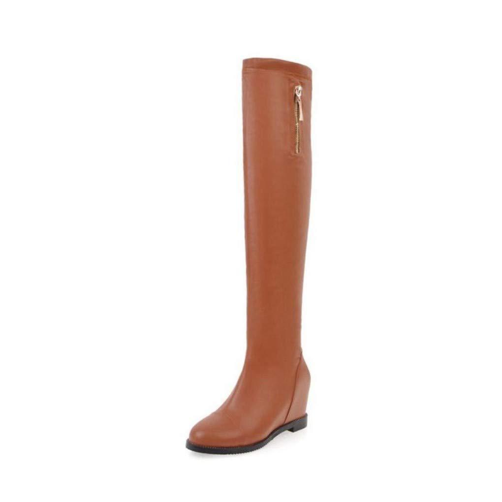 HAOLIEQUAN Größe 34-45 damen High Heels Stiefel Inside Heels Winter Woherren schuhe Zipper Over The Knee Stiefel Fashion Ladies schuhe
