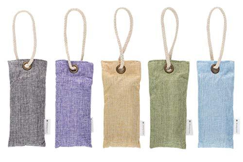 dreamy scent Bamboo Charcoal Air Purifying Bags (5 Pack) 100g air freshener Bags, Charcoal Odor eliminators, Closet freshener, car freshener, Keeps Food Fresh
