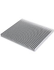 Awxlumv Large LED Aluminum Heatsink 200 x 220 x 18mm / 7.87 x 8.66 x 0.7 Inch Cooler 30 Fins Heat Sink Board
