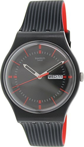 - Swatch Unisex SUOB714 Originals Black Watch with Patterned Band