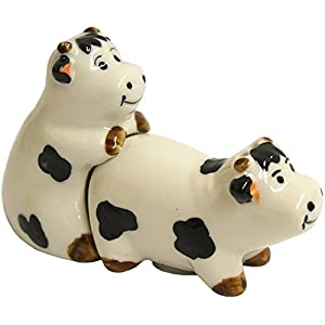 Kinky Ceramic Cow Cruet Set by Giftbrit 41l2LLujCZL