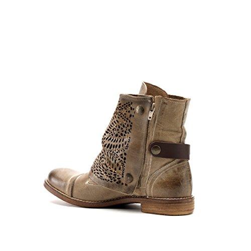 CAFèNOIR Loow boot - botas de caño bajo de piel mujer Taupe
