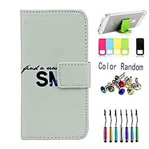 SHOUJIKE Smile Pattern Full Body Case with Stylus ,Anti-Dust Plug and Stand for iPhone 5/5S