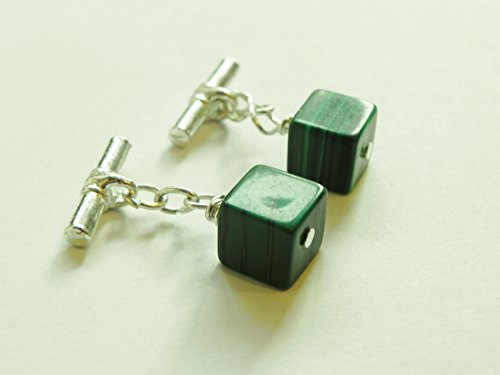 Green Handmade Cufflinks - 9