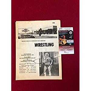 "1976, Dusty Rhodes,""Autographed"" (),""Miami Beach Wrestling Program"" (Scarce) JSA Certified Autographed MLB Magazines"