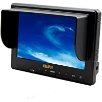 Professional LILLIPUT 7 667GL-70 NP/H/Y/S Camera Monitor / HDMI, YPbPr, AV1/AV2 , HD-SDI Input / HDMI, HD-SDI Output / Color TFT LCD Monitor / With F-970 & QM91D Battery Plate + Mini Stand Base + Sun Shade Cover + Hot-shoe Mount