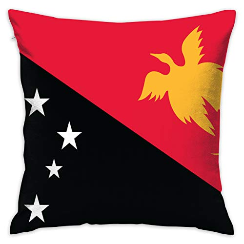 Christopher Cottini Papua New Guinea Flag Beddings Pillow Set Zippered Pillow Protector Covers 100% Polyester Plush Cloth Bed Bug ()