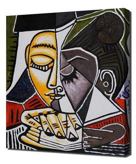Pablo Picasso - Tete Dune Femme Lisant Framed Canvas Art Print Reproduction