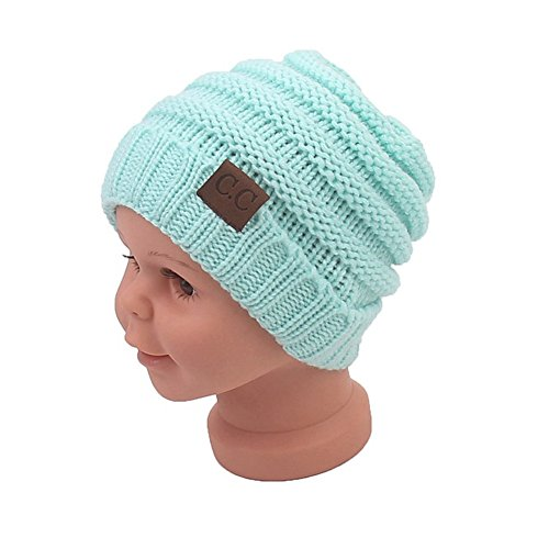 Sechunk Baby Boy Winter Warm Hat, Infant Toddler Kids Beanie Knit Cap for Girls and Boys [0-5years] (Light ()