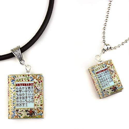 ARITHMANCY Clay Mini Book Necklace Unisex by Book Beads ()