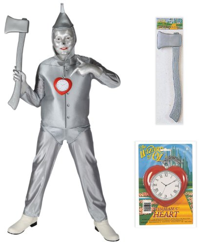 Clock Tin Man Heart (The Wizard of Oz Tinman Child Costume with Heart Clock and Axe - Small)