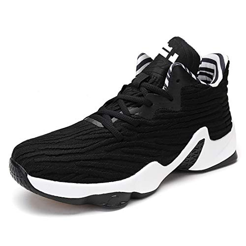 SEVENWELL Men's Women's Active Basketball Sneakers Ultra Lightweight Flyknit Hiking Gym Outdoor Running Shoes Black 275mm:11 D(M) US Men by SEVENWELL