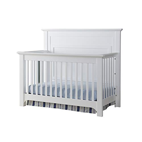 Building Blocks Barclay Crib with Extension Kit in White