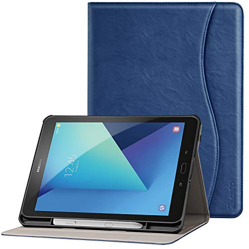 Ztotop Folio Case for Samsung Galaxy Tab S3 9.7-Inch 2017 (SM-T820/T825/T827), Premium Leather Stand Cover for Galaxy Tab S3 Tablet with Auto Sleep/Wake, S Pen Holder, Multi-Angle Viewing, Navy Blue -