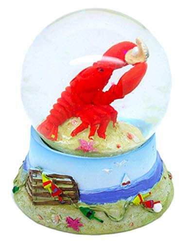 Red Lobster with Pearl Snow Globe - Waterball with Cape Cod Lobster