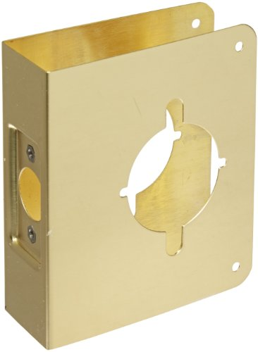 Don-Jo 75-CW 22 Gauge Stainless Steel Wrap-Around Plate, Polished Brass Finish, 4-3/4