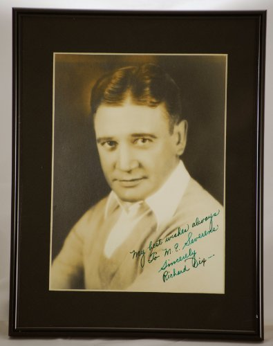Custom Black Metal Frame & Matted - Richard Dix Vintage Signed Photo - Inscribed - Signed in Fountain Pen - Measures 10x13 Inches - One of a Kind - Silent to Sound Era Actor - Rare - Very Collectible