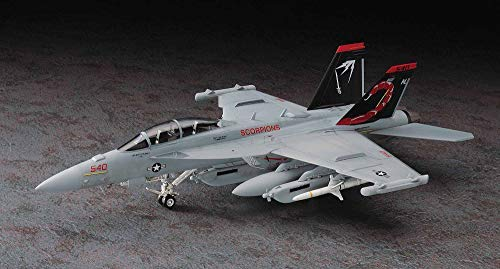 Hasegawa 1/72 Scale EA-18G Growler, E Series US Navy Carrier Borne ECM Aircraft Model Kit # 01568